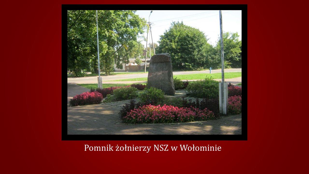 Pomnik żołnierzy NSZ w Wołominie
