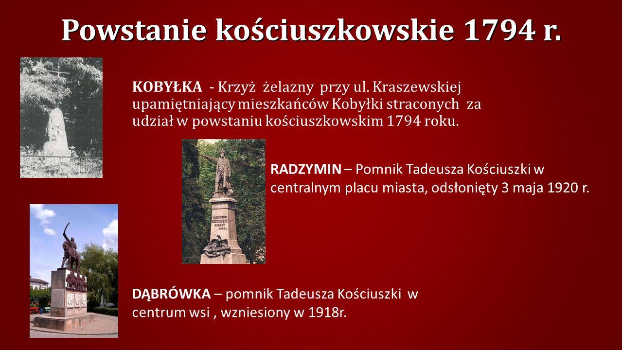 Powstanie kościuszkowskie 1794 r.