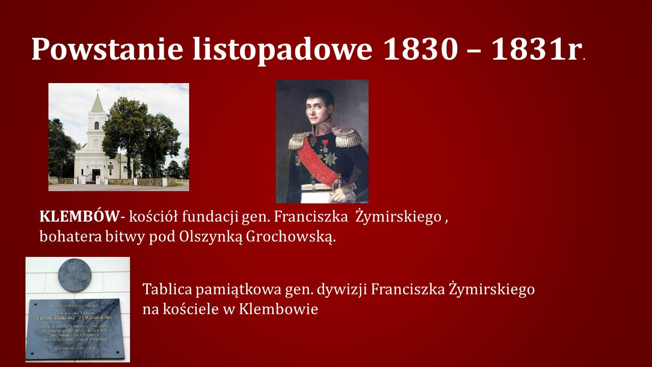 Powstanie listopadowe 1830 – 1831r.