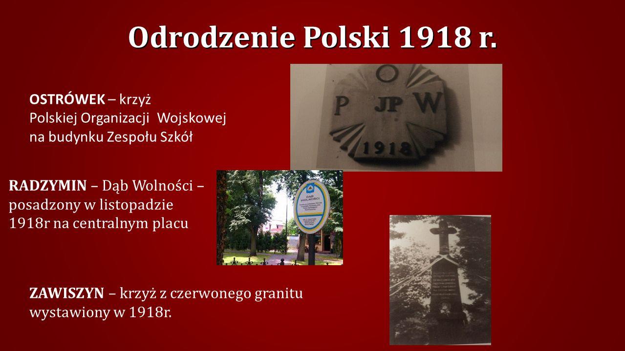 Odrodzenie Polski 1918 r. OSTRÓWEK – krzyż