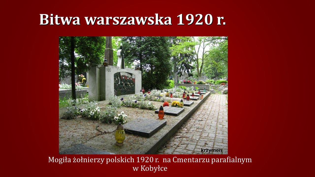 Mogiła żołnierzy polskich 1920 r. na Cmentarzu parafialnym w Kobyłce