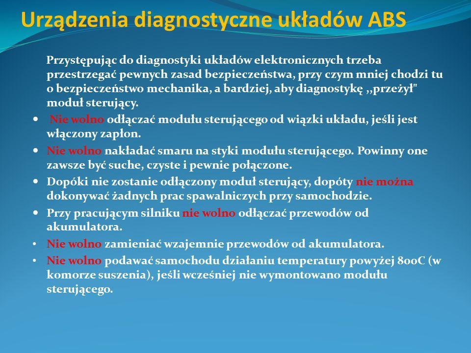 Urządzenia diagnostyczne układów ABS