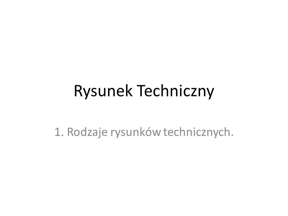 1. Rodzaje rysunków technicznych.