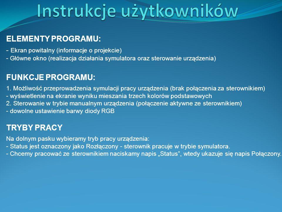 Instrukcje użytkowników