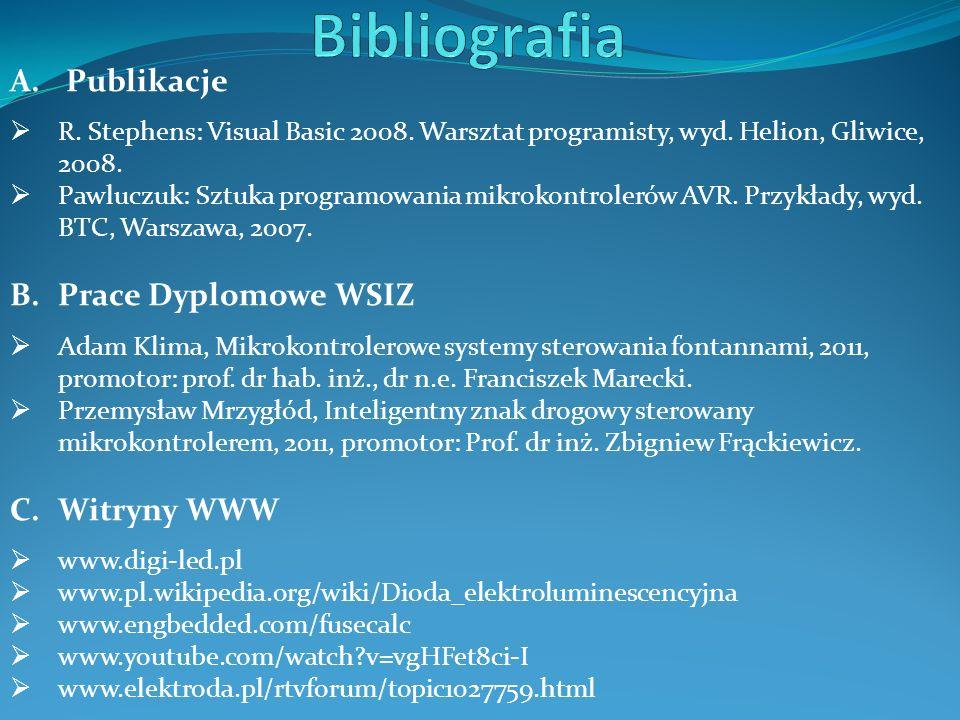 Bibliografia Publikacje Prace Dyplomowe WSIZ Witryny WWW