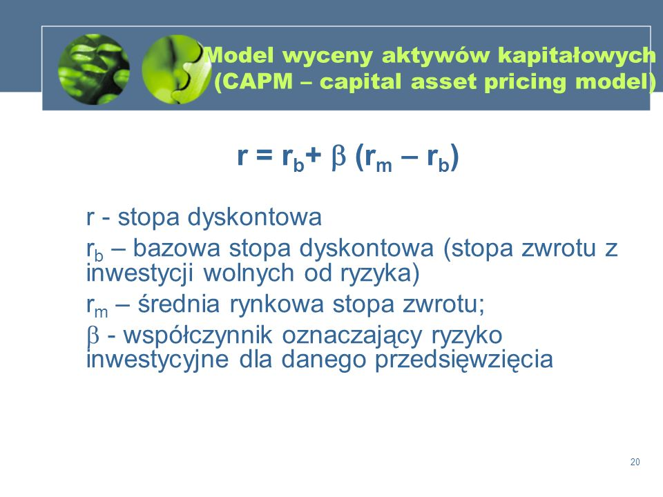 Model wyceny aktywów kapitałowych (CAPM – capital asset pricing model)