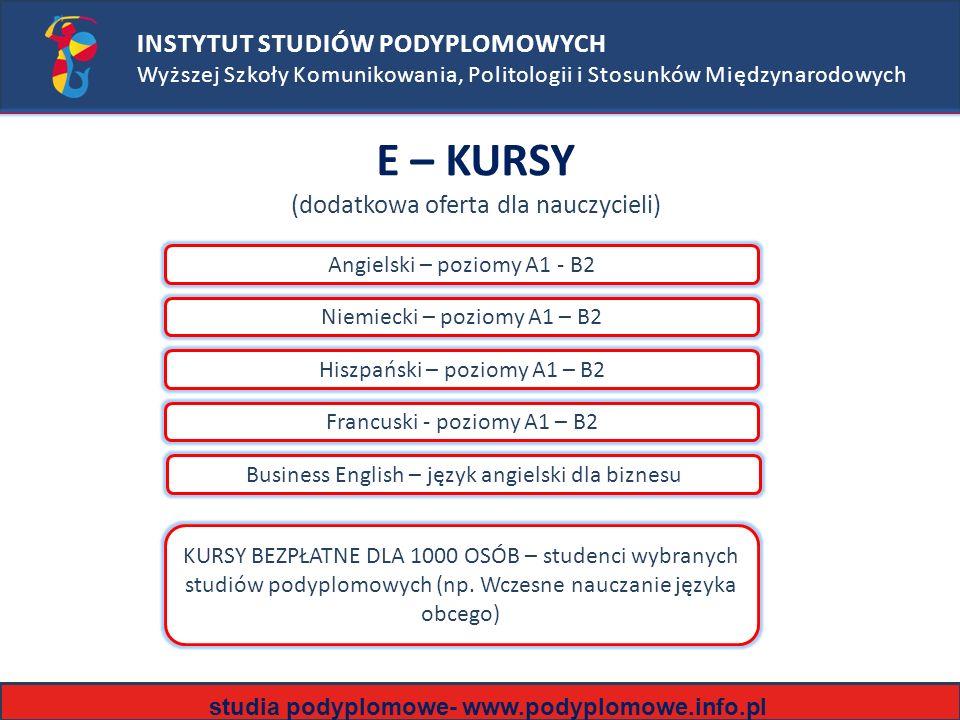 E – KURSY (dodatkowa oferta dla nauczycieli)