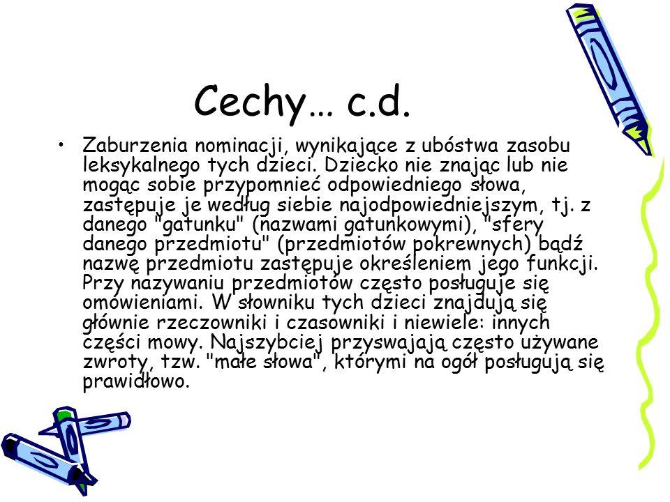 Cechy… c.d.