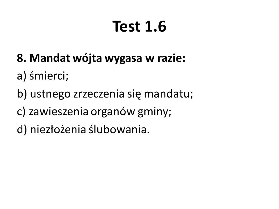Test 1.6 8.