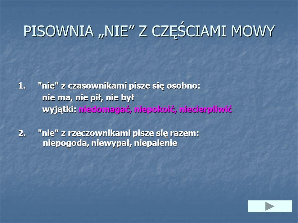 """PISOWNIA """"NIE Z CZĘŚCIAMI MOWY"""