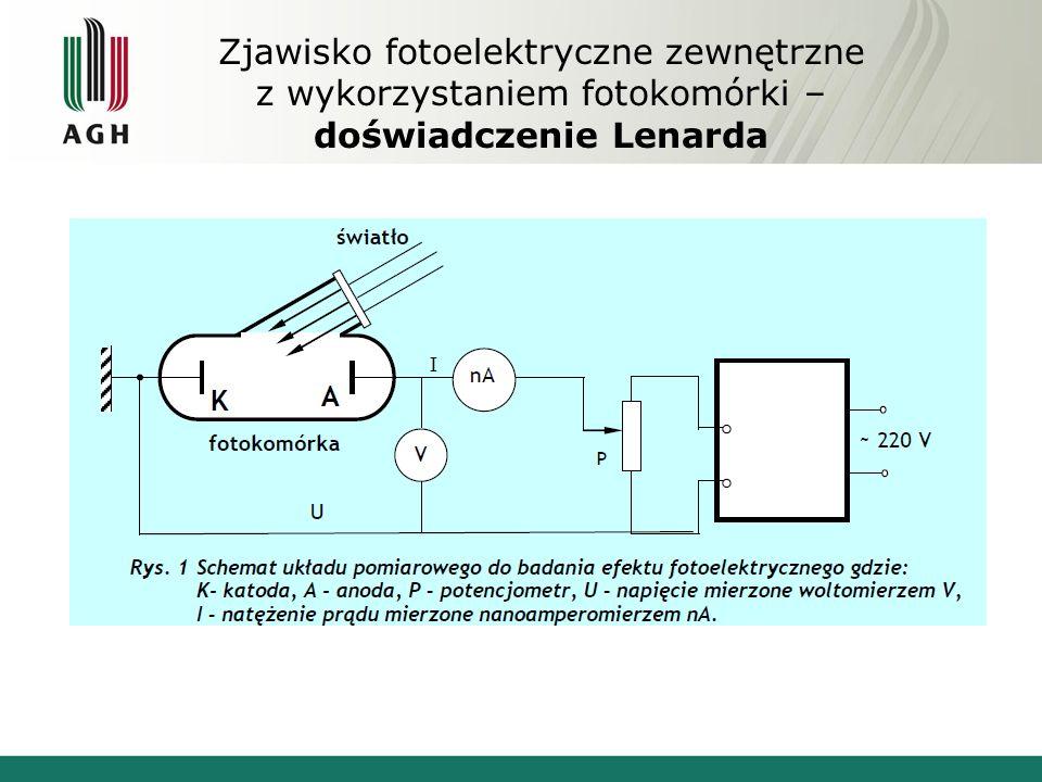 Zjawisko fotoelektryczne zewnętrzne z wykorzystaniem fotokomórki – doświadczenie Lenarda