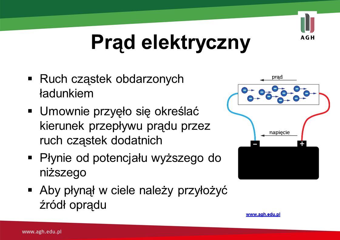 Prąd elektryczny Ruch cząstek obdarzonych ładunkiem