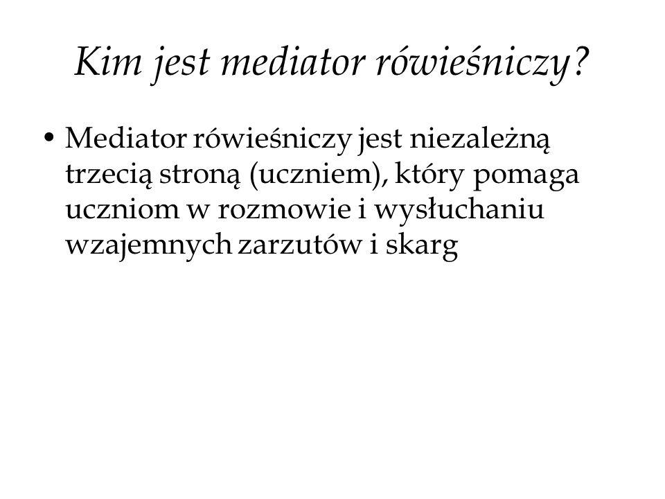 Kim jest mediator rówieśniczy