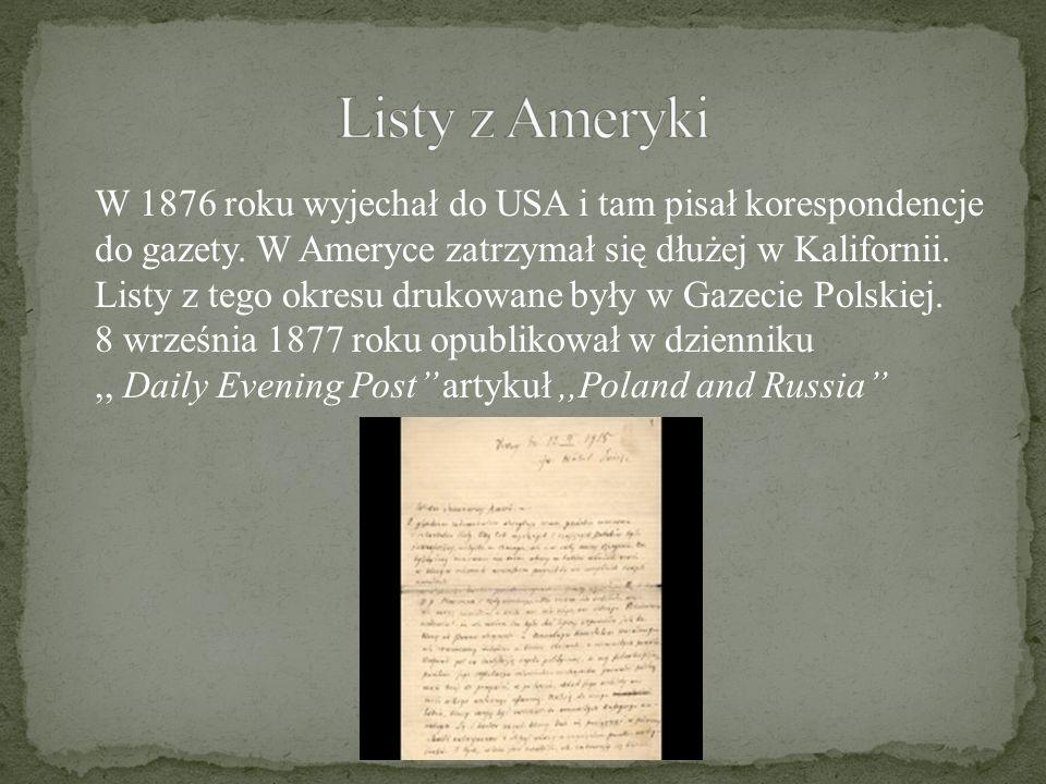 Listy z Ameryki