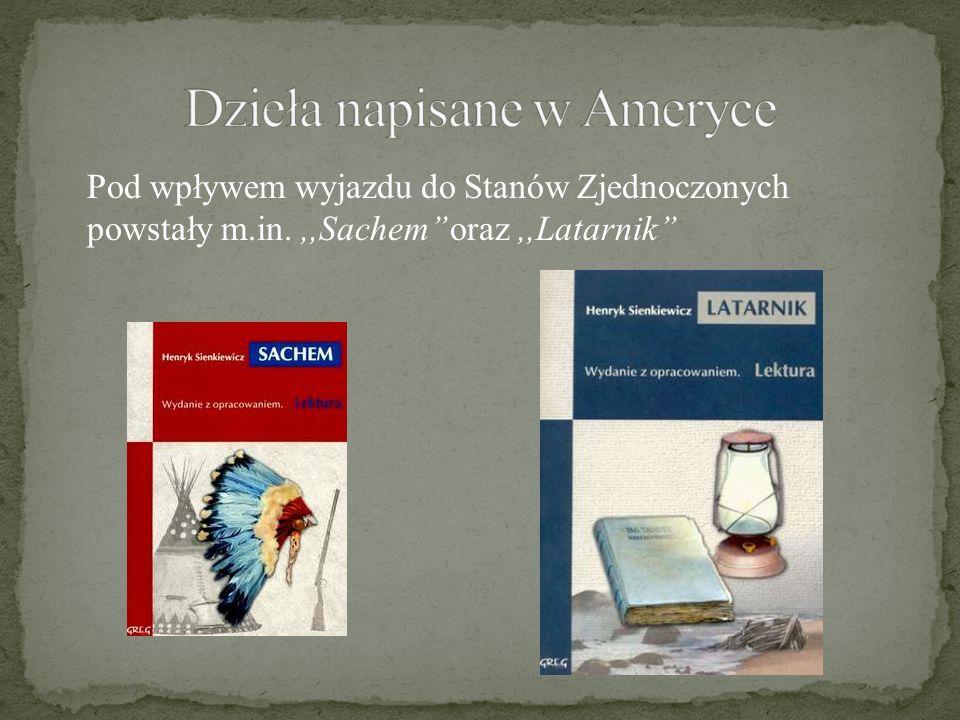 Dzieła napisane w Ameryce