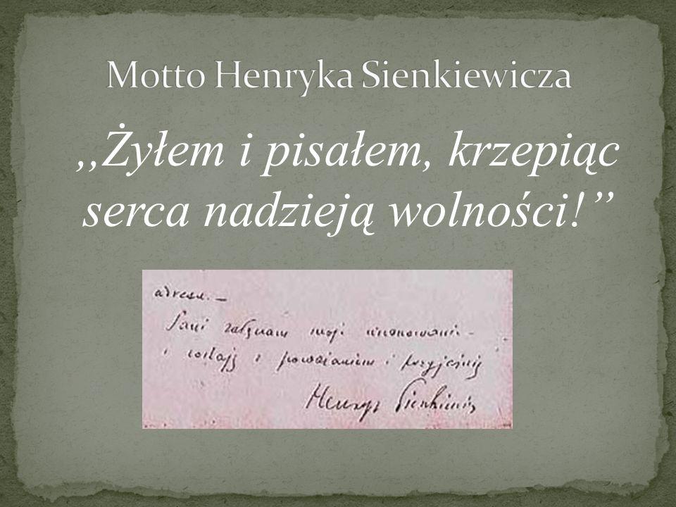 Motto Henryka Sienkiewicza