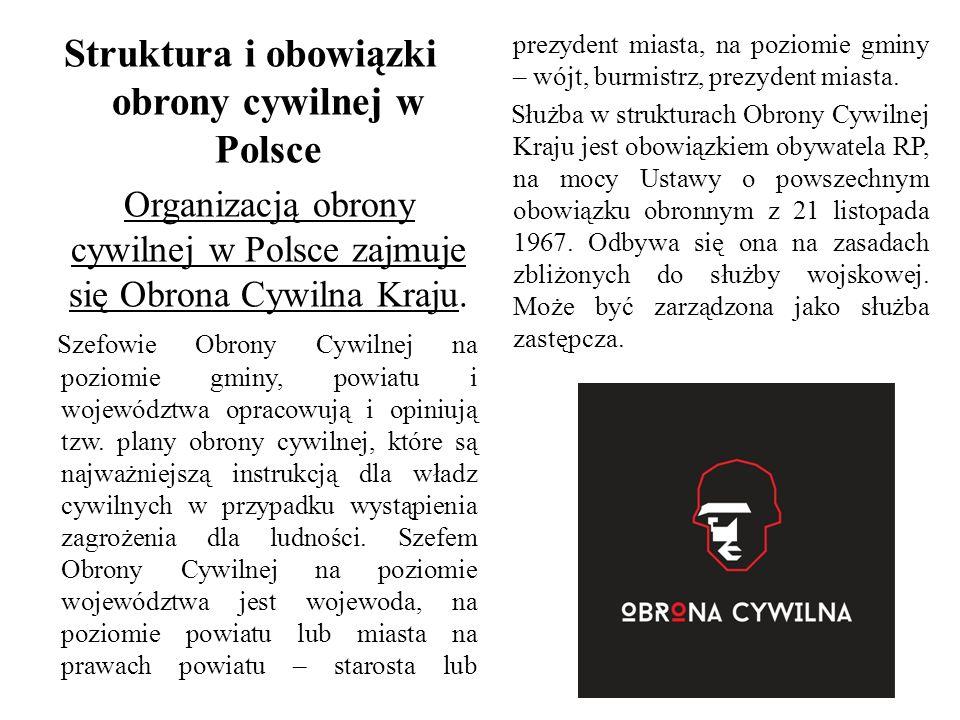 Struktura i obowiązki obrony cywilnej w Polsce