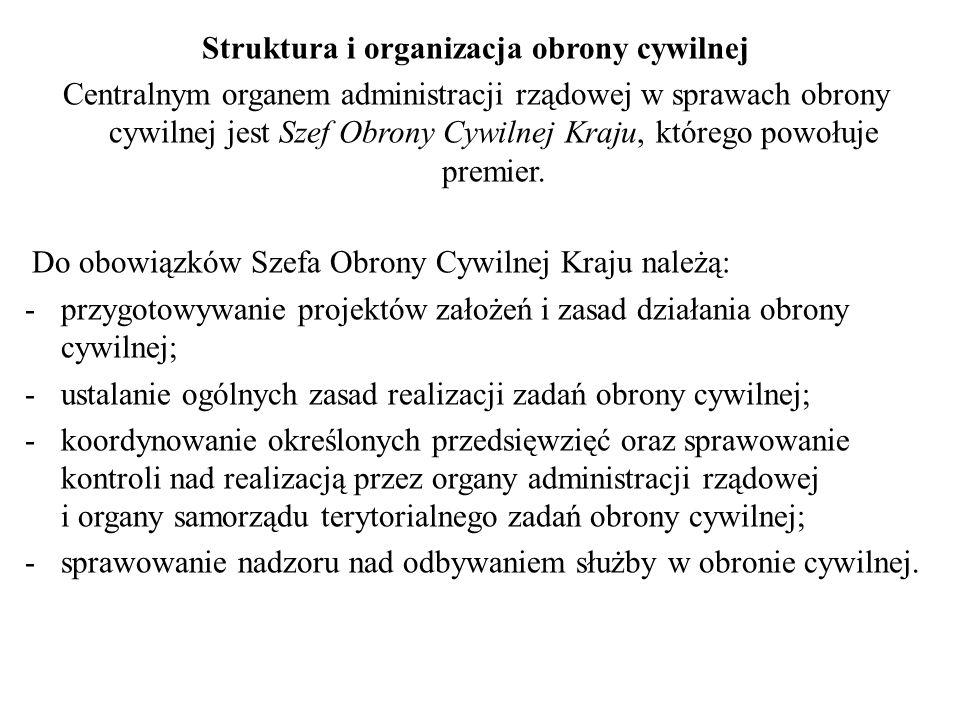 Struktura i organizacja obrony cywilnej