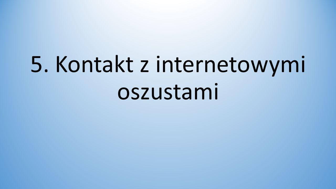 5. Kontakt z internetowymi oszustami