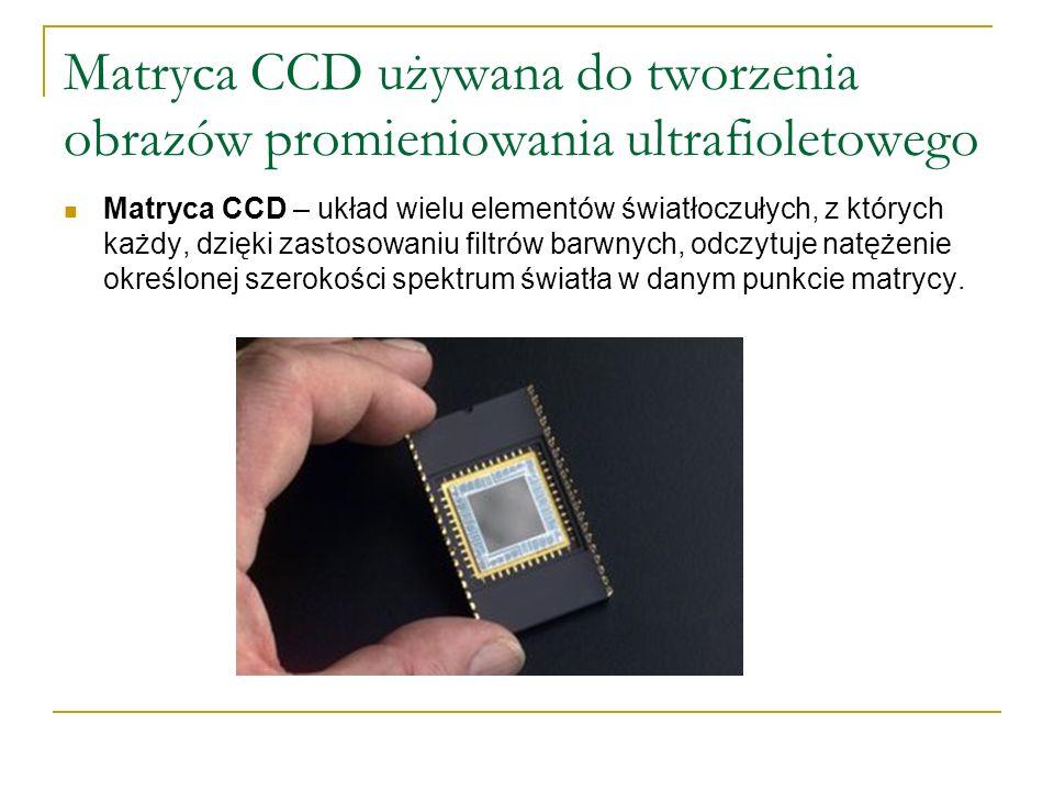 Matryca CCD używana do tworzenia obrazów promieniowania ultrafioletowego