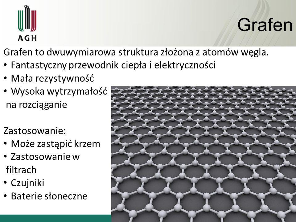 Grafen Grafen to dwuwymiarowa struktura złożona z atomów węgla.