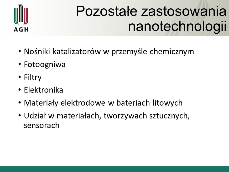 Pozostałe zastosowania nanotechnologii