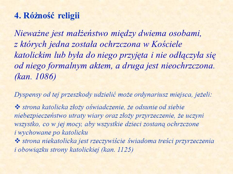 4. Różność religii.