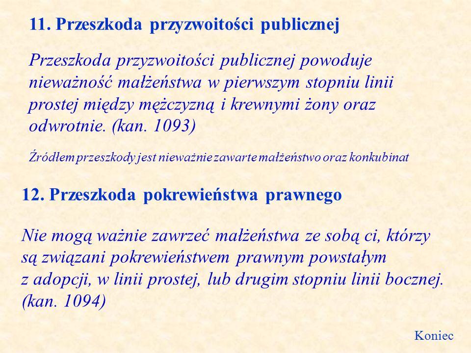 11. Przeszkoda przyzwoitości publicznej