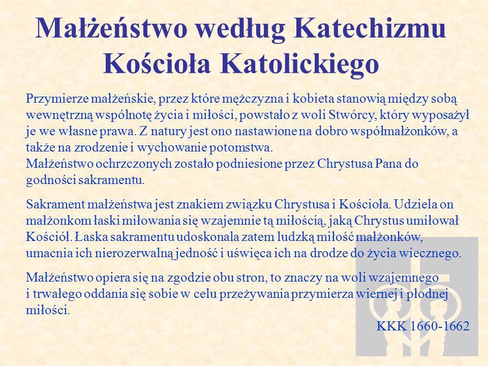 Małżeństwo według Katechizmu Kościoła Katolickiego
