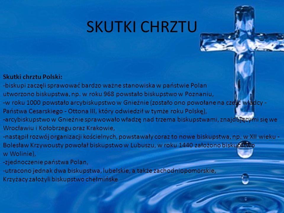 SKUTKI CHRZTU Skutki chrztu Polski: