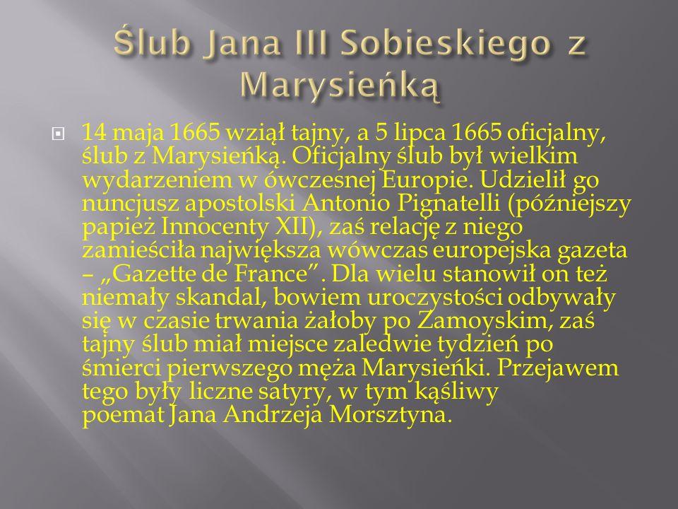 Ślub Jana III Sobieskiego z Marysieńką