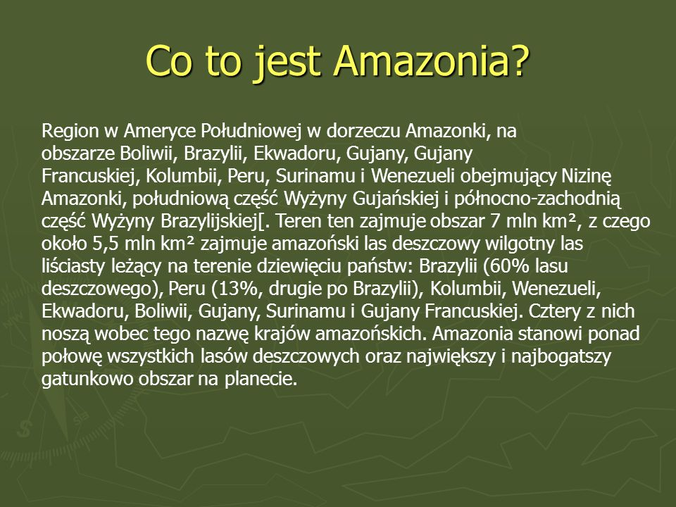 Co to jest Amazonia
