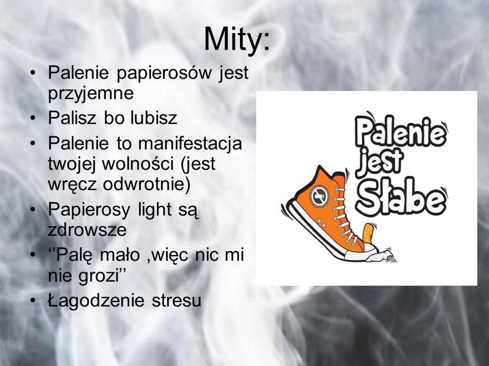 Mity: Palenie papierosów jest przyjemne Palisz bo lubisz