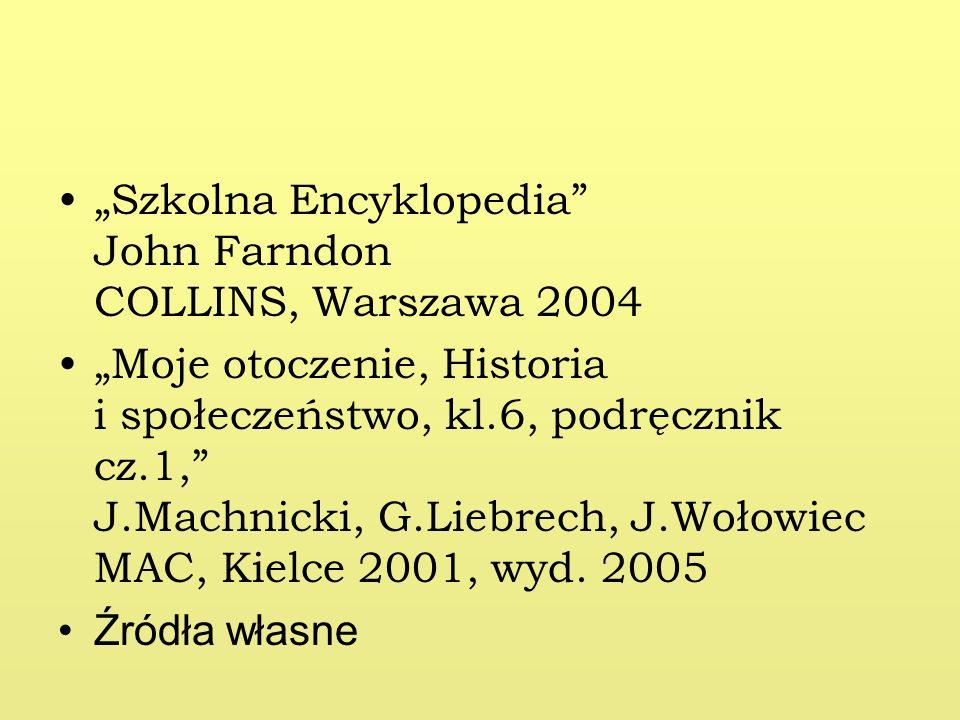 """Szkolna Encyklopedia John Farndon COLLINS, Warszawa 2004"