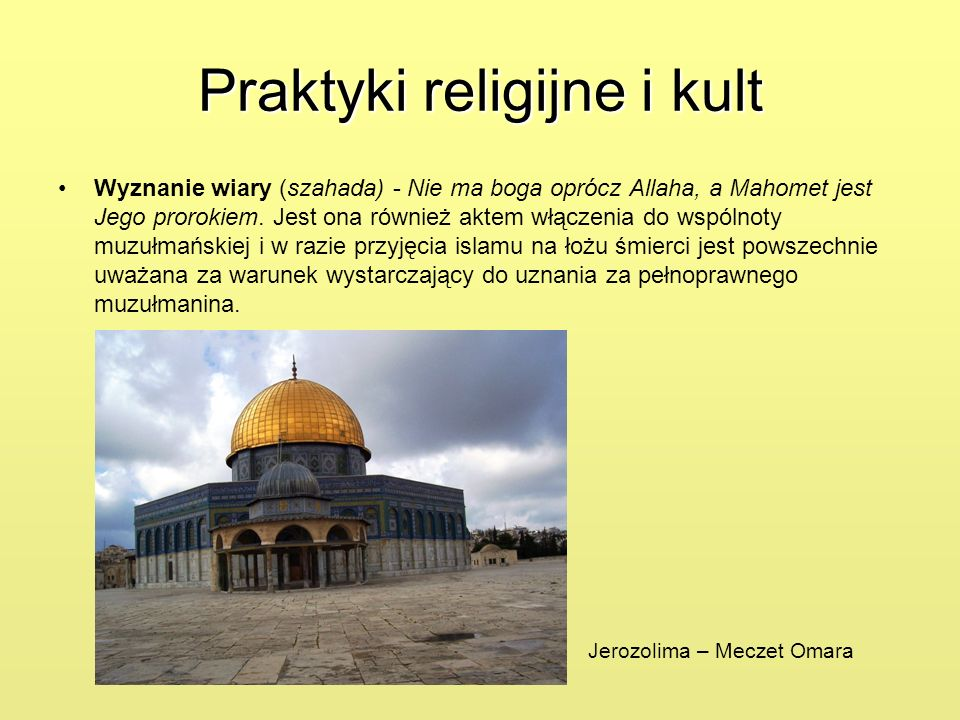 Praktyki religijne i kult