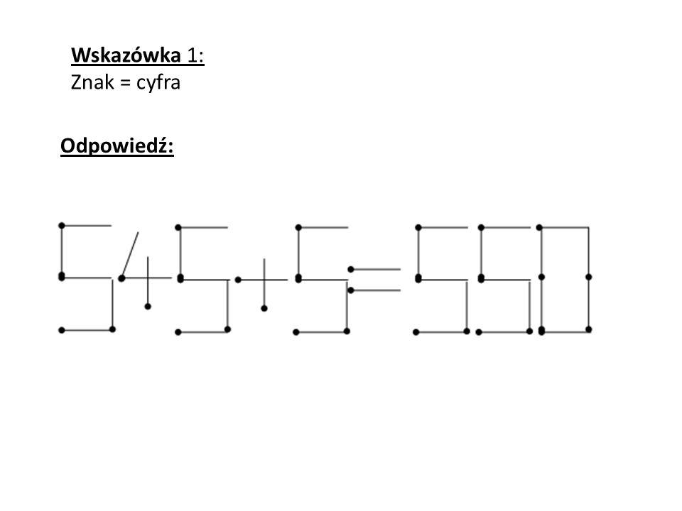 Wskazówka 1: Znak = cyfra