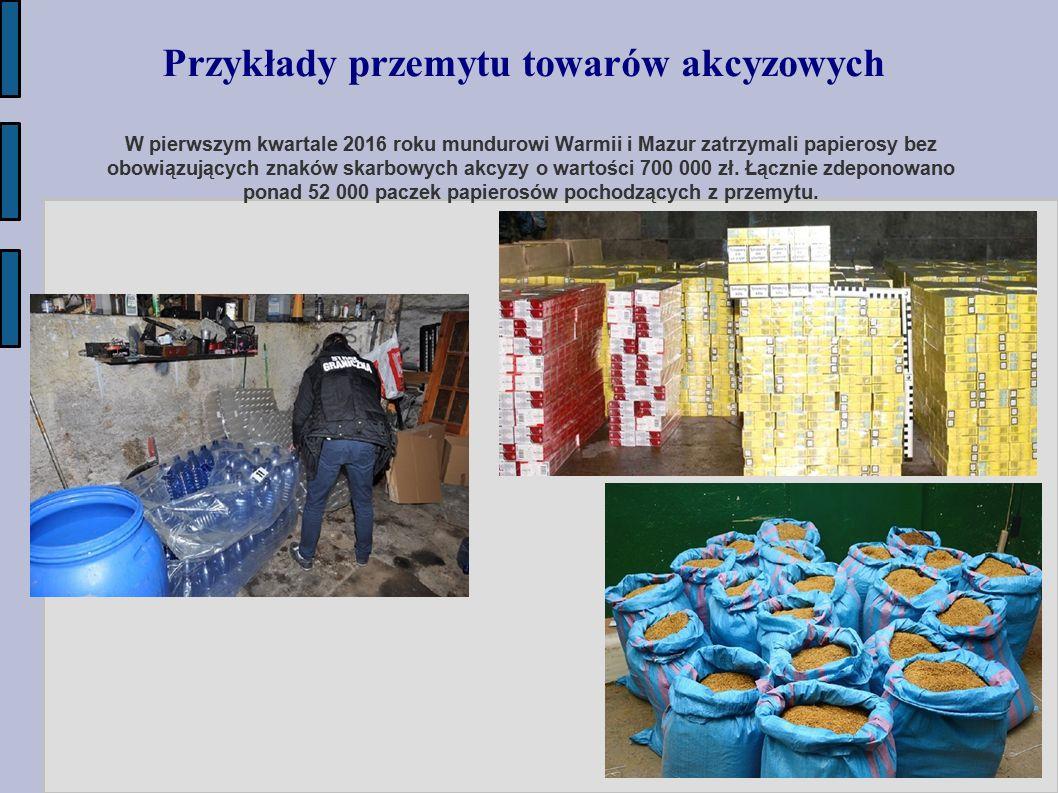 Przykłady przemytu towarów akcyzowych