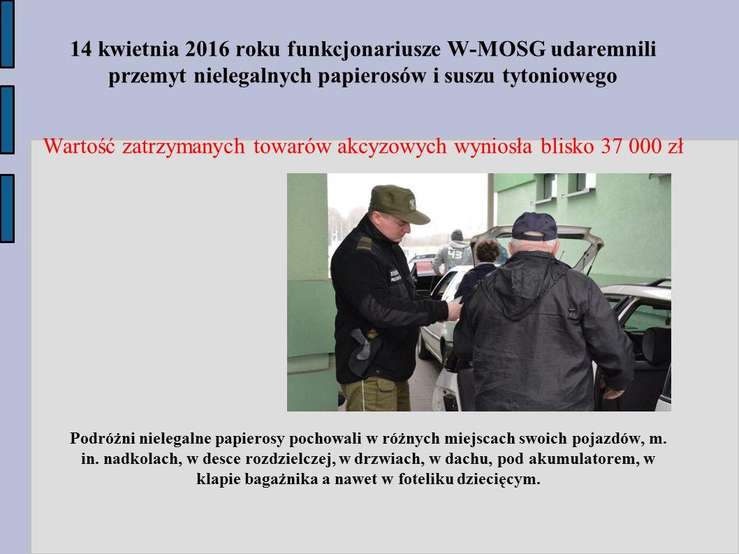 Wartość zatrzymanych towarów akcyzowych wyniosła blisko 37 000 zł