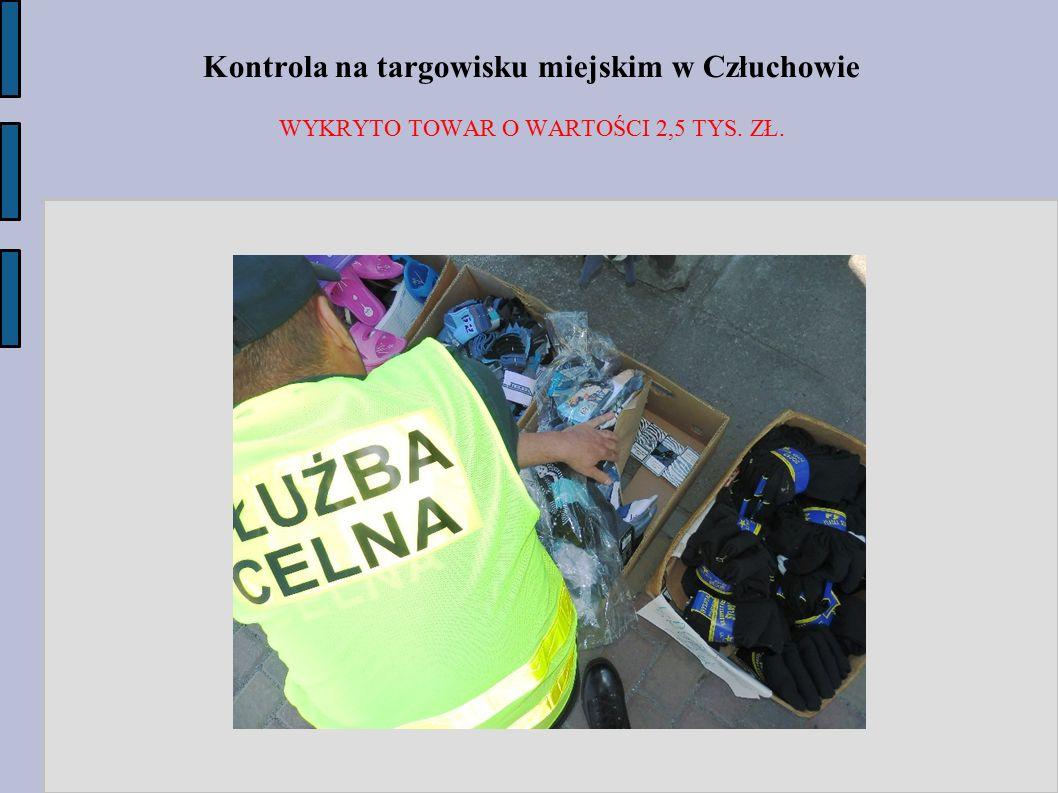 Kontrola na targowisku miejskim w Człuchowie
