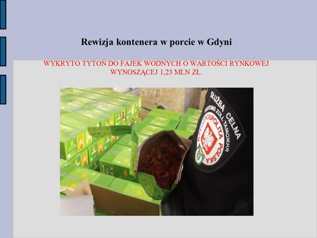 Rewizja kontenera w porcie w Gdyni