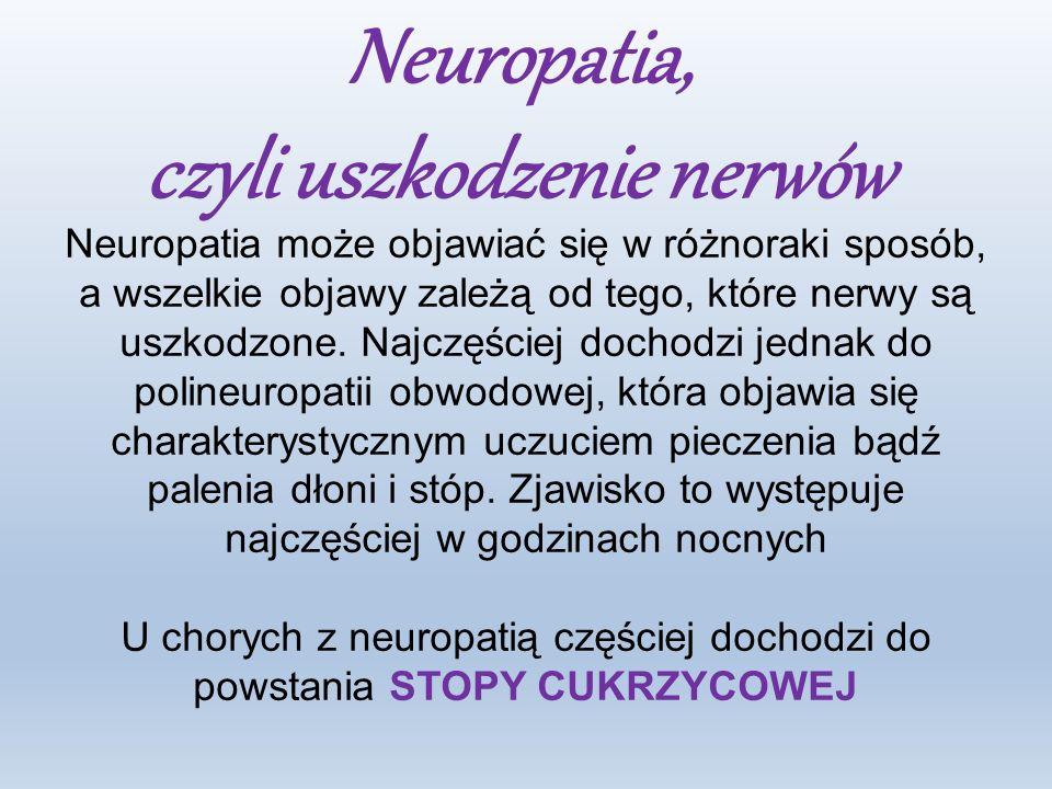 czyli uszkodzenie nerwów
