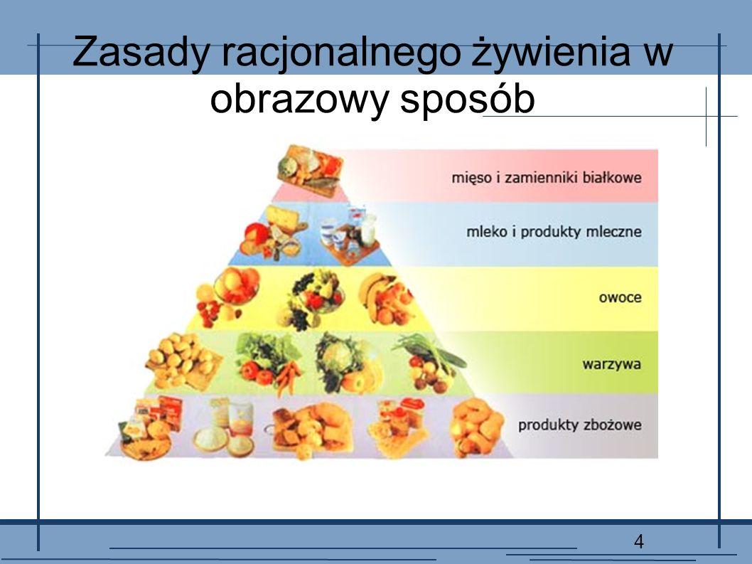 Zasady racjonalnego żywienia w obrazowy sposób
