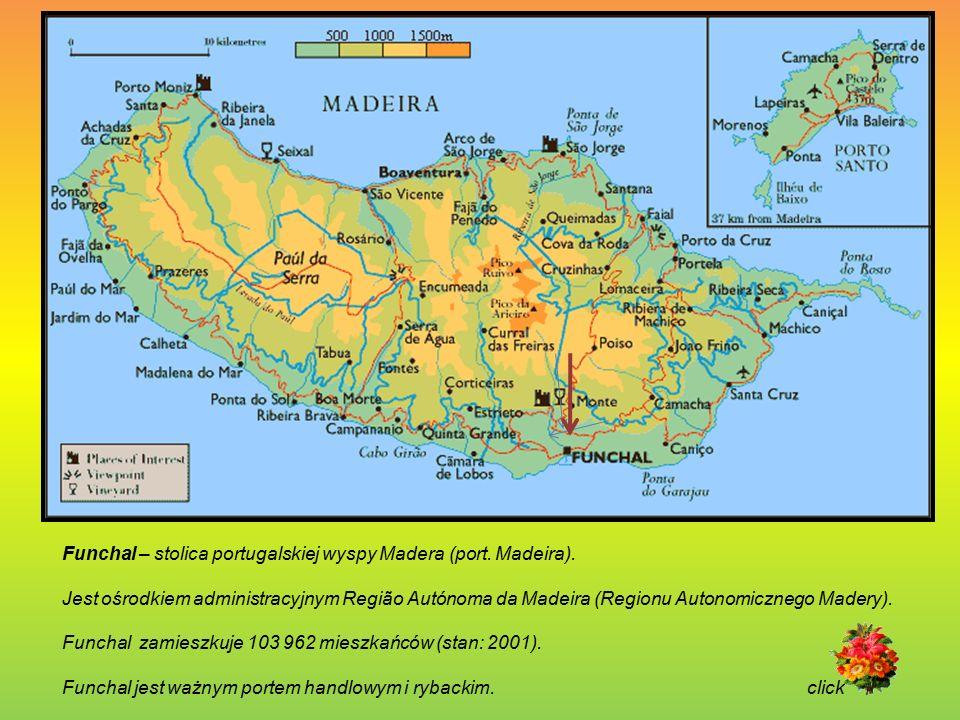 Funchal – stolica portugalskiej wyspy Madera (port. Madeira).