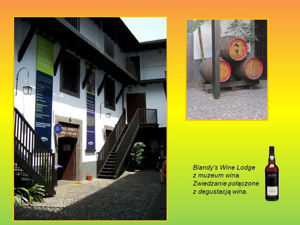 Blandy s Wine Lodge z muzeum wina. Zwiedzanie połączone z degustacją wina.