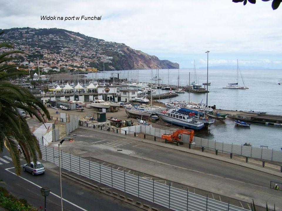 Widok na port w Funchal