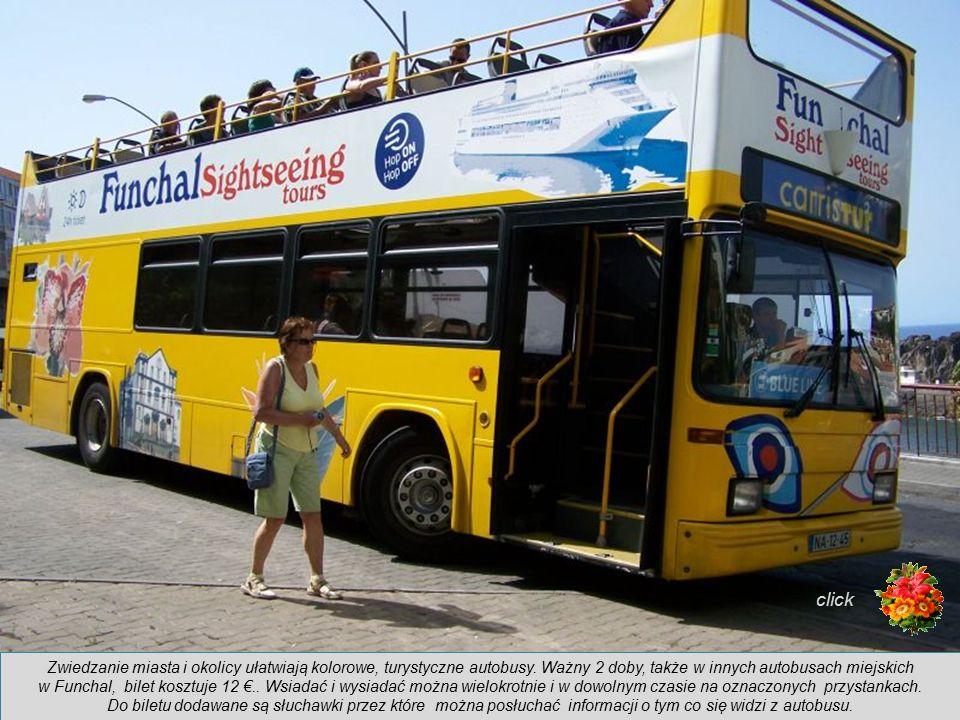click Zwiedzanie miasta i okolicy ułatwiają kolorowe, turystyczne autobusy. Ważny 2 doby, także w innych autobusach miejskich.