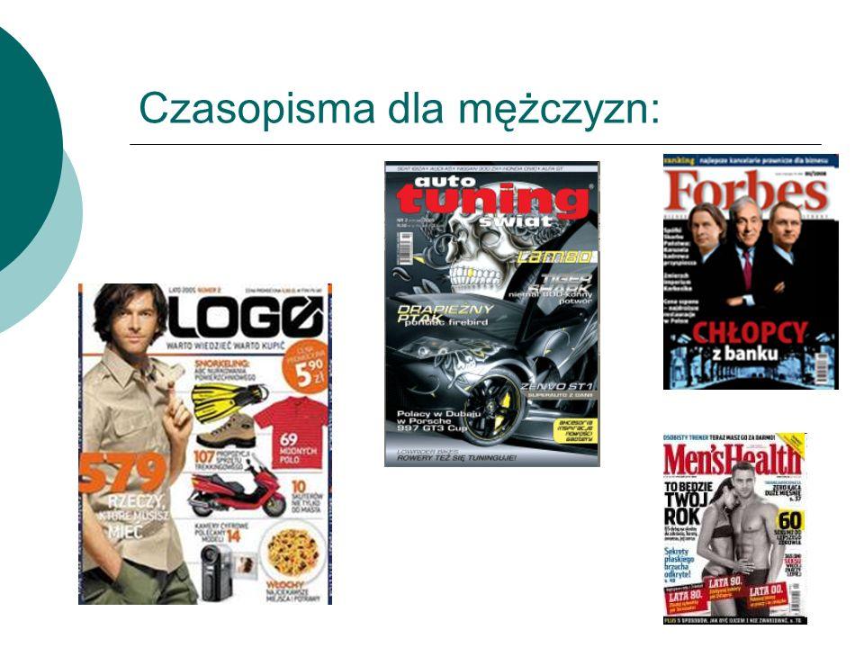 Czasopisma dla mężczyzn: