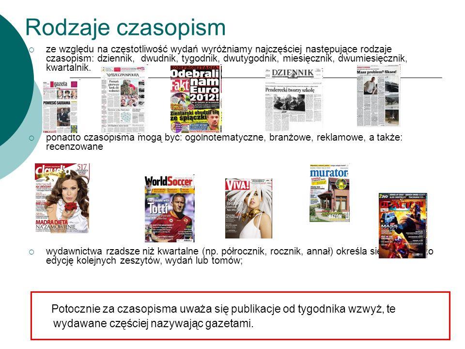 Rodzaje czasopism