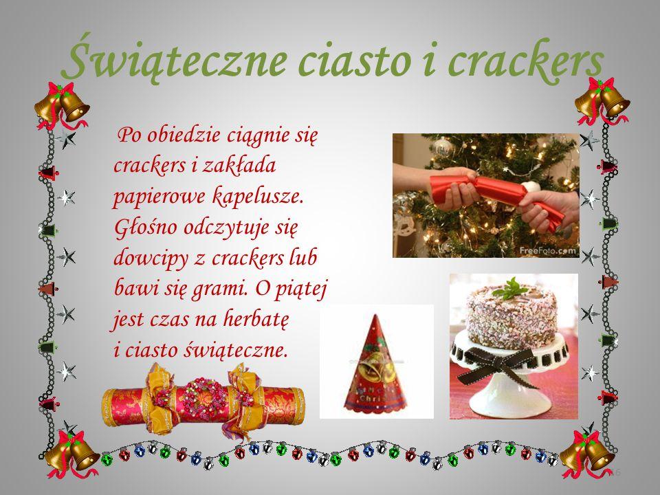 Świąteczne ciasto i crackers