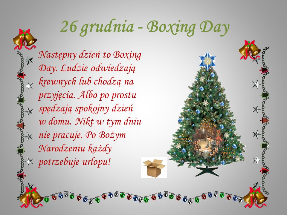 26 grudnia - Boxing Day